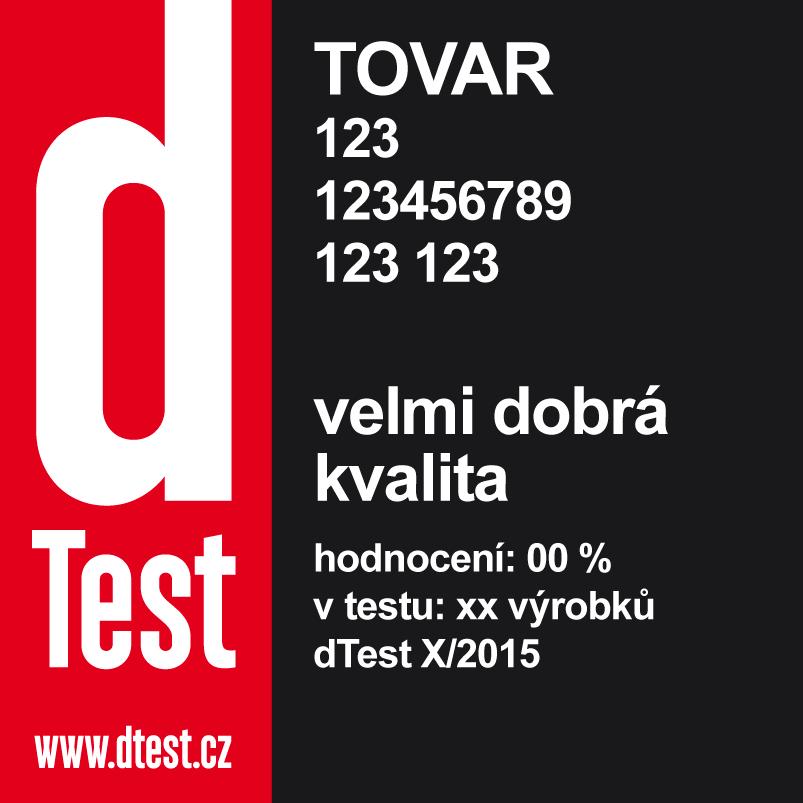 dTest  Značka kvality dTest - Nezávislé testy 4bb277eac55