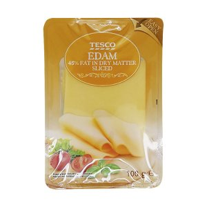 Tesco Edam 45 % sliced
