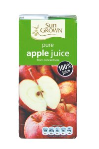Tesco / Sun Grown pure apple juice from concentrate