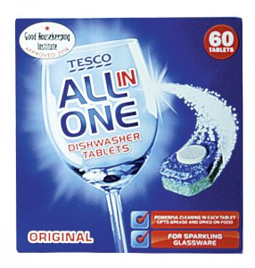 Tesco All in One Dishwasher Tablets