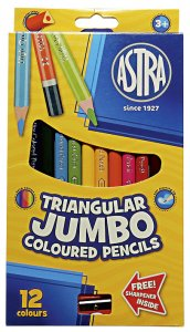 Astra Triangular Jumbo Coloured Pencils