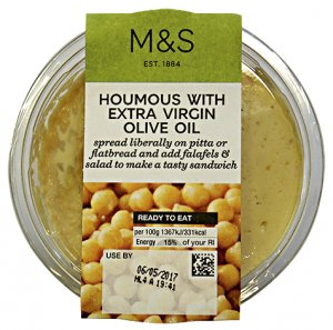 M & S Houmous with Extra Virgin Olive Oil