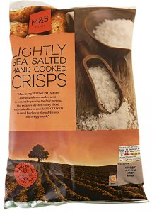 M&S Lightly Sea Salted Crisps