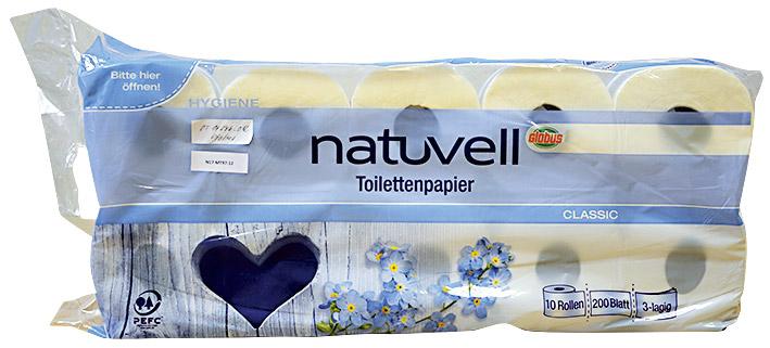 Značka  Globus Natuvell. Podrobný článek  Test toaletních papírů ... 61255a51054